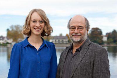 Eva Lettenbauer und Eike Hallitzky, Landesvorsitzende der bayerischen Grünen